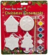 Декорація новорічна 4 фігурки для розмальовування в блістері Девилон