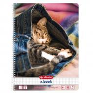 Блокнот Jeans Cat Кошеня А4 80 аркушів в клітинку 50030989C Herlitz