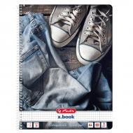 Блокнот Jeans Shoes Кеди А4 80 аркушів в клітинку 50030989S Herlitz