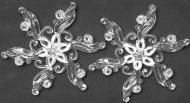 Ялинковий набір Акрилова сніжинка 12 см 2 шт. 12 см 2 шт./уп.