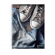 Блокнот Jeans Shoes Кеди А5 120 аркушів в точку 50030996S Herlitz