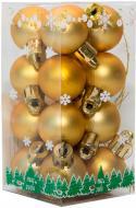 Набір іграшок кулі золоті матові Девілон 890544 d25 мм 16 шт./уп.