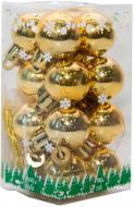 Набір іграшок кулі золоті глянцеві Девілон 890582 d25 мм 16 шт./уп.