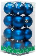 Набір іграшок кулі сині матові Девілон 890643 d40 мм 16 шт./уп.