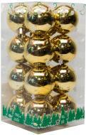 Набір іграшок кулі золоті глянцеві Девілон 890667 d40 мм 16 шт./уп.