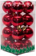 Набір іграшок кулі червоні глянцеві Девілон 890674 d40 мм 16 шт./уп.