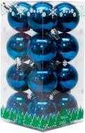 Набір іграшок кулі сині глянцеві Девілон 890681 d40 мм 16 шт./уп.