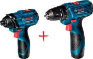 Гайковерт ударний акумуляторний Bosch Professional GDR 120-LI + акумуляторний дриль-шуруповерт GSR 120 LI COMBO 06019F000