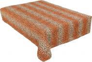 Покривало Леопард 160x215 см помаранчевий із чорним