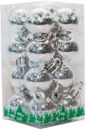 Набір іграшок кулі сріблясті глянцеві Девілон 890575 d25 мм 16 шт./уп.