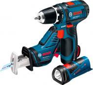 Набір інструментів Bosch Professional 3 в 1 GSR 10,8-2-LI + GSA 10,8 V-LI + GLI PowerLED 0615990G02