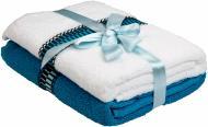 Набор полотенец Leon 2 шт. 50x90 см голубой Frotirka