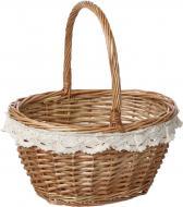Кошик плетений з текстилем 29х22х17/33 см Easter 16-4A-2