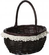 Кошик плетений з текстилем 37х31х19/41 см Easter 16-2A-1