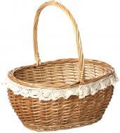 Кошик плетений з текстилем 37x31x19/41 см Easter 16-4A-1
