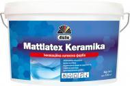 Краска водоэмульсионная Dufa Mattlatex Keramika шелковистый мат белый 14кг