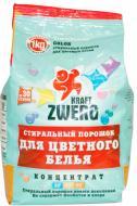 Пральний порошок для машинного та ручного прання Kraft Zwerg для кольорової білизни 1 кг