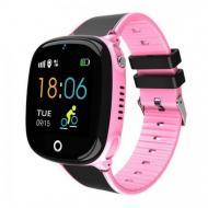 Детские Умные Часы  Baby Smart Watch Hw11 Aqua Plus Черно-Розовые