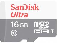 Карта пам'яті SanDisk microSDHC 16 ГБ Class 10 (SDSQUNS-016G-GN3MA)