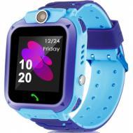 Детские Смарт Часы Baby Smart Watch Q12 (S12) Original С Lbs Сине-Голубые