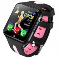 Детские Смарт Часы Baby Smart Watch V5K Original Черно-Розовые