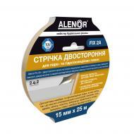 Стрічка клейка двостороння для склеювання гідроізоляційних плівок Alenor Fix2A 15 мм (25 м) Alenor