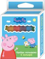 Крейда Свинка Пеппа 6 кольорів 12х11,5х80 мм 120308 Перо