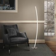 Торшер Strotskis Hi-Tech LED 14 Вт 80403/1 сатиновий нікель