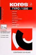 Копировальная бумага А4 20 листов TYPO/1200 черный K7528942 Kores