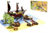 Игровой набор анимационная Стикбот студия / Stikbot studio Пиратский корабль (JM-06A)
