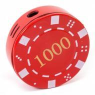 Зажигалка газовая Darshan Покерная фишка Красная (50009)