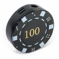 Зажигалка газовая Darshan Покерная фишка Черная (50010)