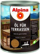 Масло Alpina Oel Terrassen TR прозрачный шелковистый глянец 0,75 л