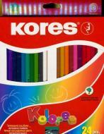 Олівці кольорові 24 шт з чинкою K100124 Kores