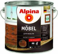 Лак меблевий Mobel GL Alpina глянець 2,5 л