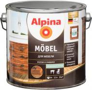 Лак меблевий Mobel SM Alpina шовковистий мат 2,5 л