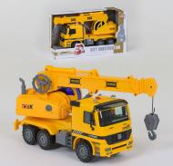 Инерционный Подъемный кран Small Toys 899-9D со светом и звуком Оранжевый (2-78871)