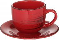 Чашка з блюдцем Antique Red 220 мл Bella Vita