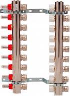 Колекторна група Luxor з витратомірами та термоклапанами М30х1,5 9 виходів з євроконусом 16х2 Luxor