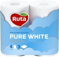 Туалетний папір Ruta Pure White тришаровий 4 шт.