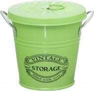 Відерце декоративне HOME SWEET HOME 12,5x9,5x13 см (зелене)