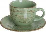 Чашка с блюдцем Antique Green 220 мл Bella Vita