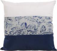 Подушка декоративна Ельза 45x45 см біло-синій La Nuit