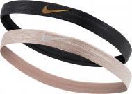 Бандана Nike SHINE HEADBANDS 2PK N.000.3525.015 р.OSFM черный