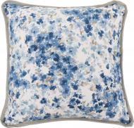Подушка декоративна Акварель Волошкові квіти 45x45 см біло-синій La Nuit