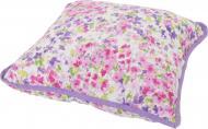 Подушка декоративна Акварель Бузкові квіти 45x45 см білий La Nuit