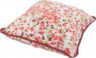 Подушка декоративна Акварель Барвисті квіти 45x45 см білий La Nuit