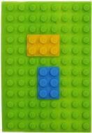 Книга для нотаток силіконова Lego А5 100 арк. зелена