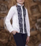 Блуза Зіронька р. 128 білий із синім 3641-3
