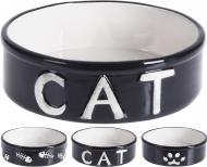 Миска для котів чорна 14x4,2 см